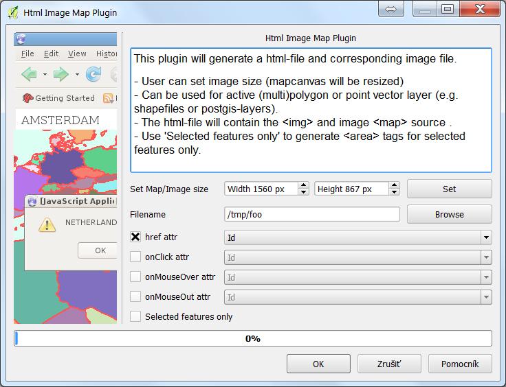 Automatické vytvorenie klikacej mapy z GIS prostredia