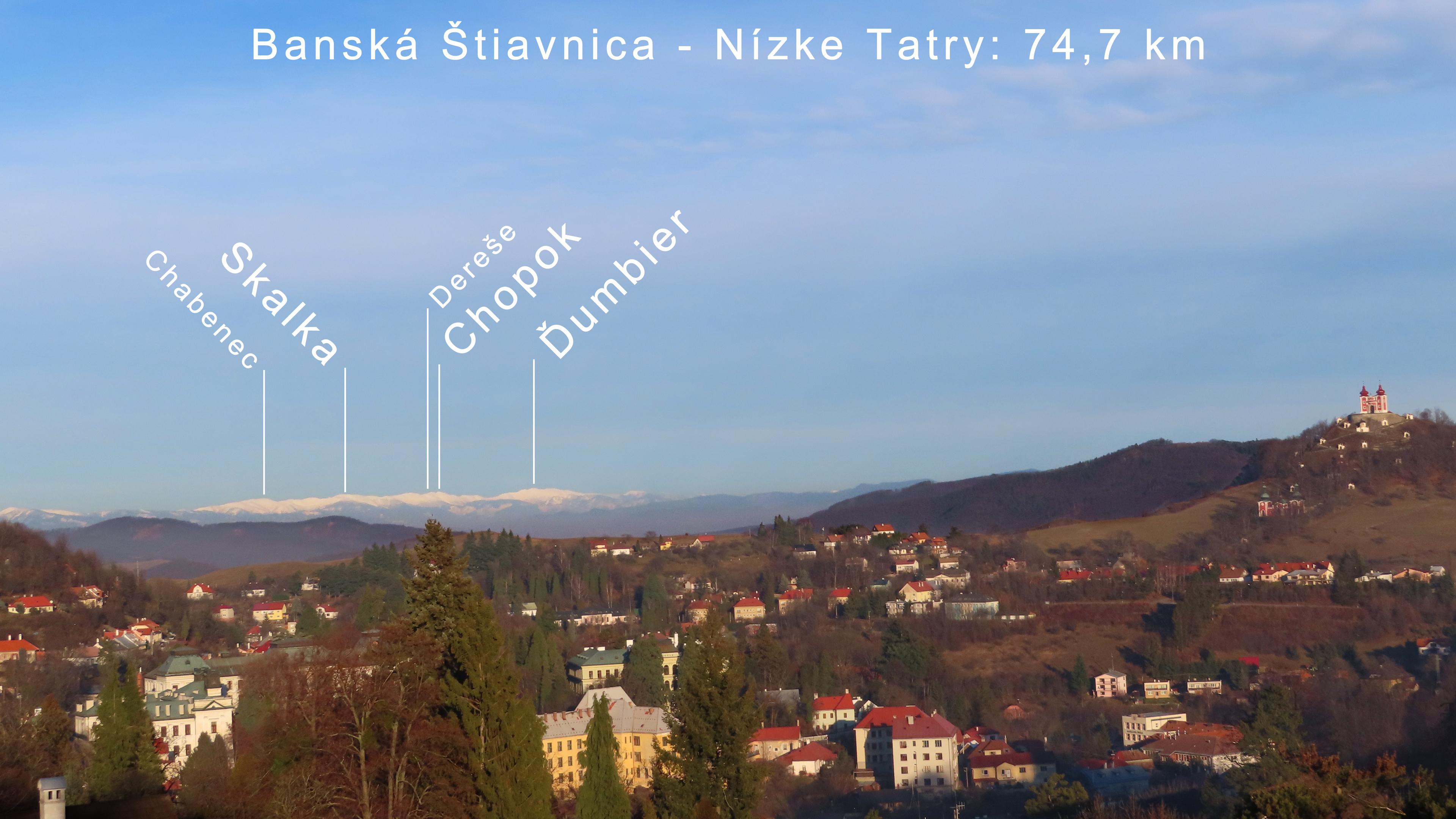 Nízke Tatry z Banskej Štiavnice