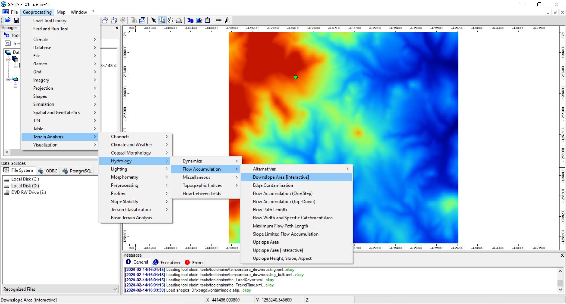 Potenciálne šírenie látok po povrchu – GIS model