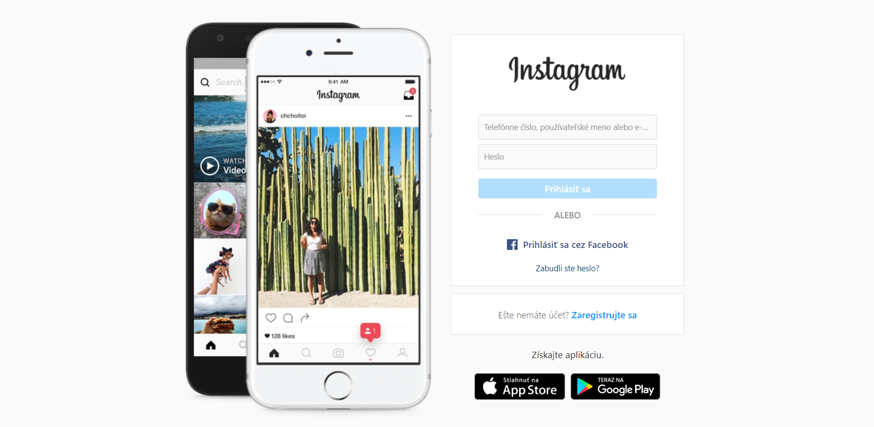 Prepojenie Instagramu s webom