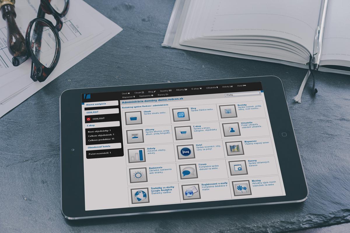 Redakčný systém Redcon s responzívnym dizajnom