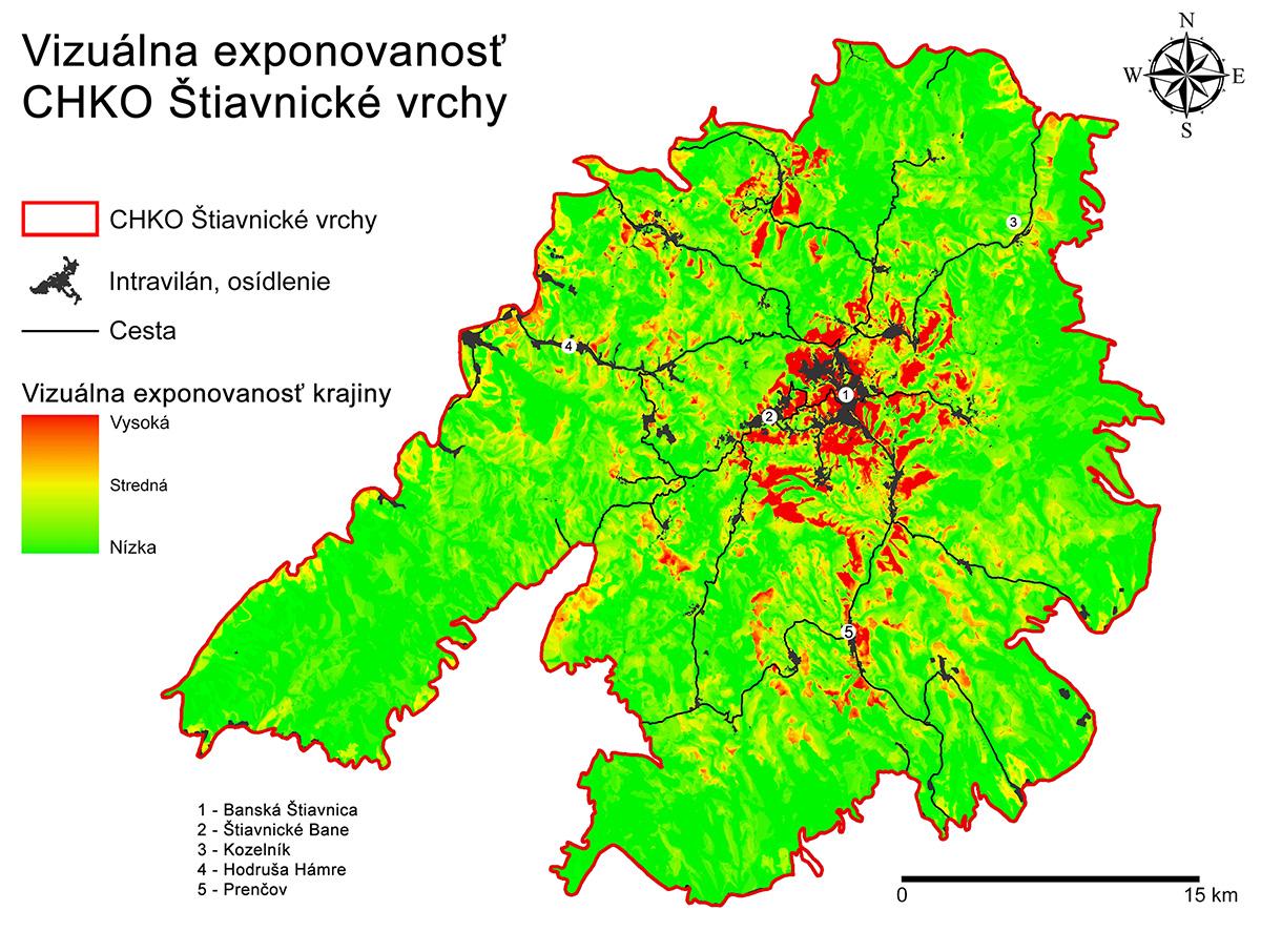 Vizuálna exponovanosť CHKO Štiavnické vrchy