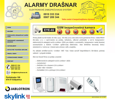 Alarmy Drasnar