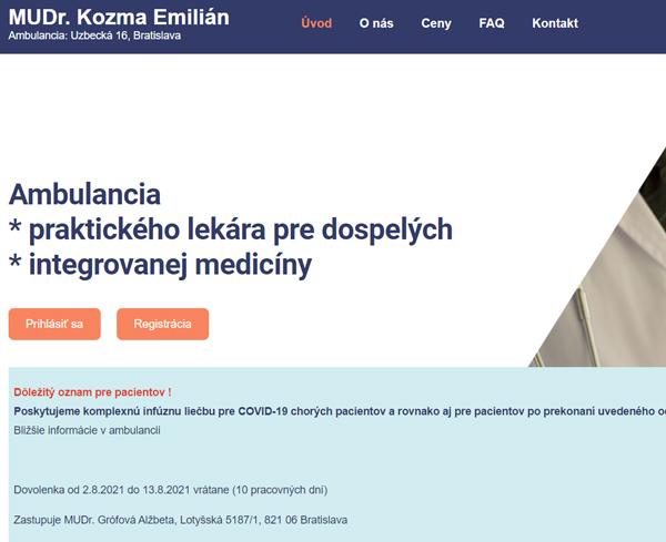 Ambulancia praktického lekára pre dospelých, integrovanej medicíny