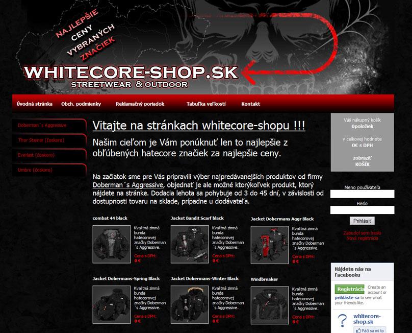 Whitecore-shop.sk