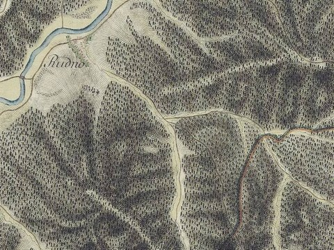 Výrez z vojenského historického mapovania (zdroj: Facebook)