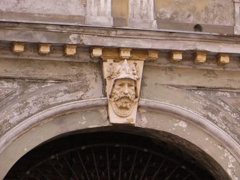 Detail portálu domu č. 2